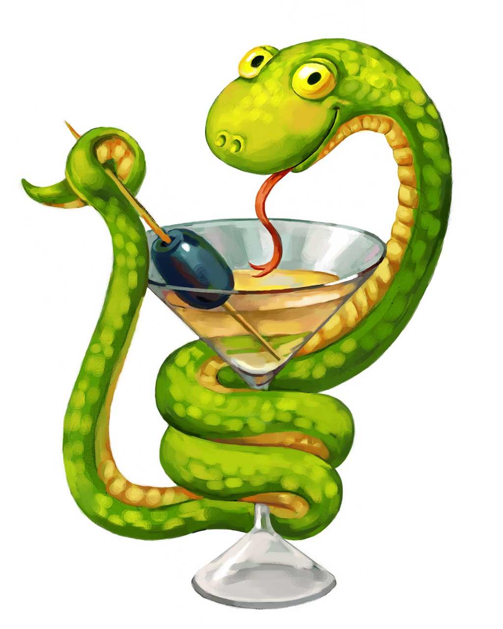 snake-martini-olive