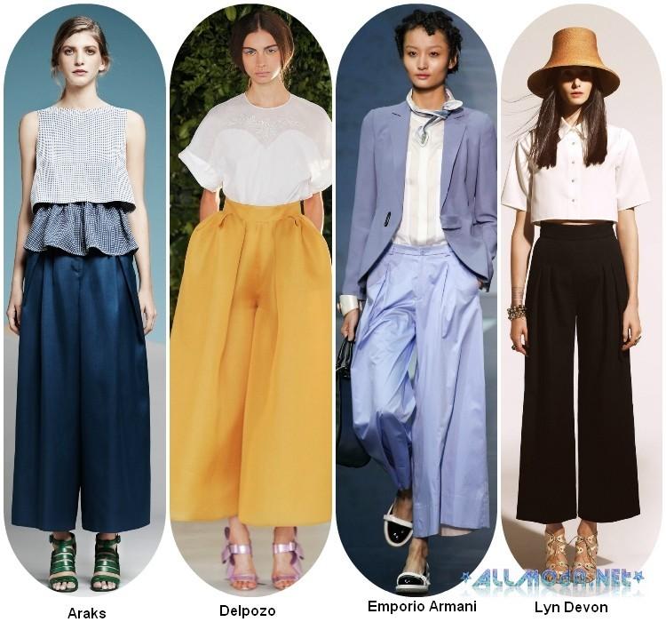Юбка -брюки : модные тенденции 2018 года, 40 фото модных образов